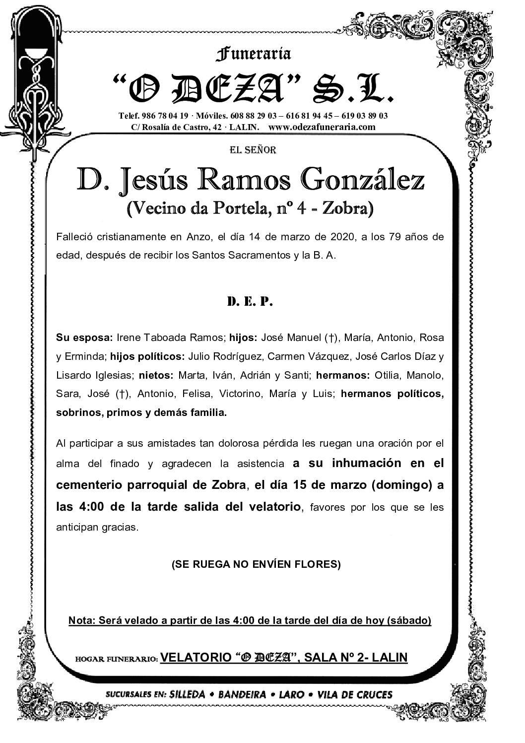 D. JESÚS RAMOS GONZÁLEZ