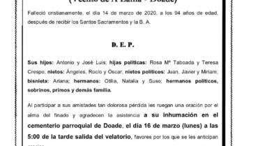 D. RICARDO BALDONEDO SÁNCHEZ
