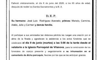DÑA. ELIDA RODRIGUEZ ACEVEDO