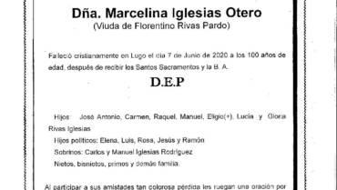 DÑA. MARCELINA IGLESIAS OTERO