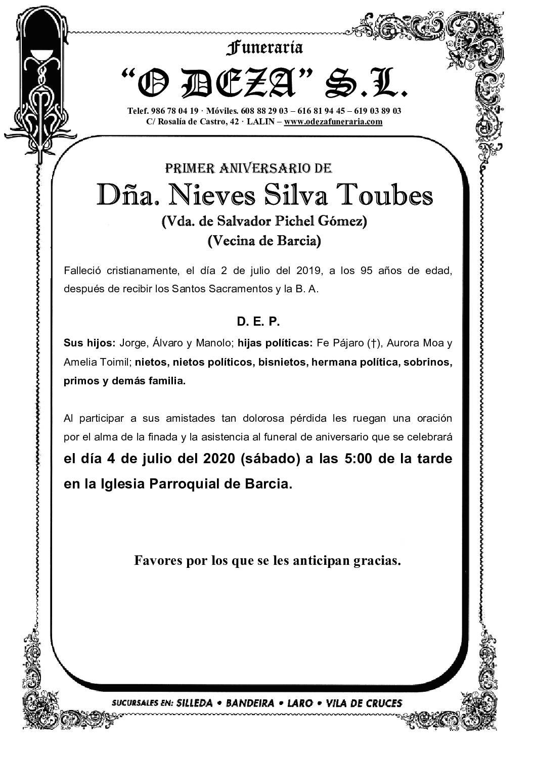 DÑA. NIEVES SILVA TOUBES