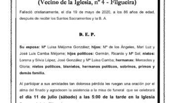 D. RAUL CAMBA GONZÁLEZ