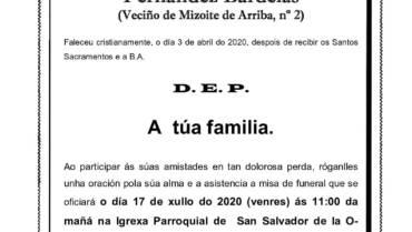 D. JULIO EVARISTO FERNÁNDEZ BARDELÁS