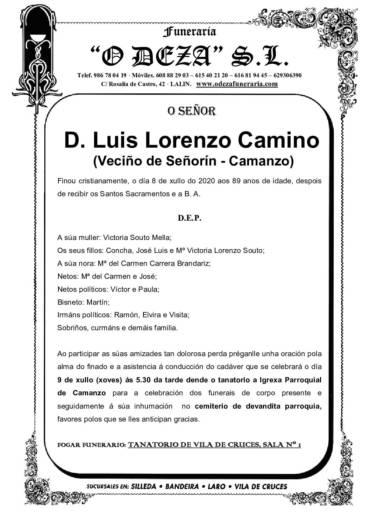 D. LUIS LORENZO CAMINO