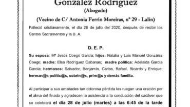 D. LUIS BENJAMÍN GONZÁLEZ RODRÍGUEZ