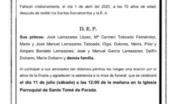 DÑA. Mª CONCEPCIÓN DOBARRO LAMAZARES