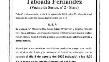 D. MANUEL LUIS TABOADA FERNÁNDEZ