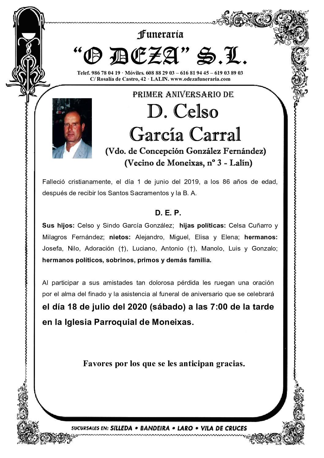 D. CELSO GARCÍA CARRAL