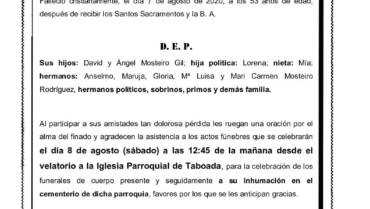 D. CARLOS MOSTEIRO RODRÍGUEZ