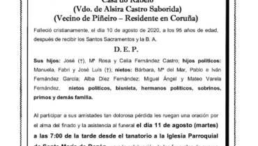 D. MANUEL FERNÁNDEZ AREÁN