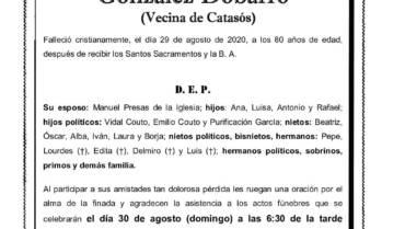 DÑA. OLGA CELIA GONZÁLEZ DOBARRO