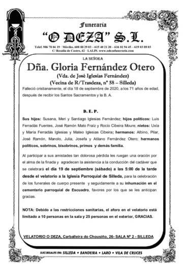 DÑA. GLORIA FERNÁNDEZ OTERO