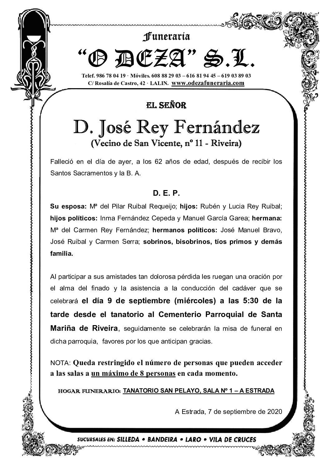 D. JOSÉ REY FERNÁNDEZ