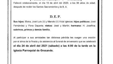DÑA. MANUELA IGLESIAS PEREIRO