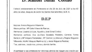 D. MANUEL SIMAL CORTIZO