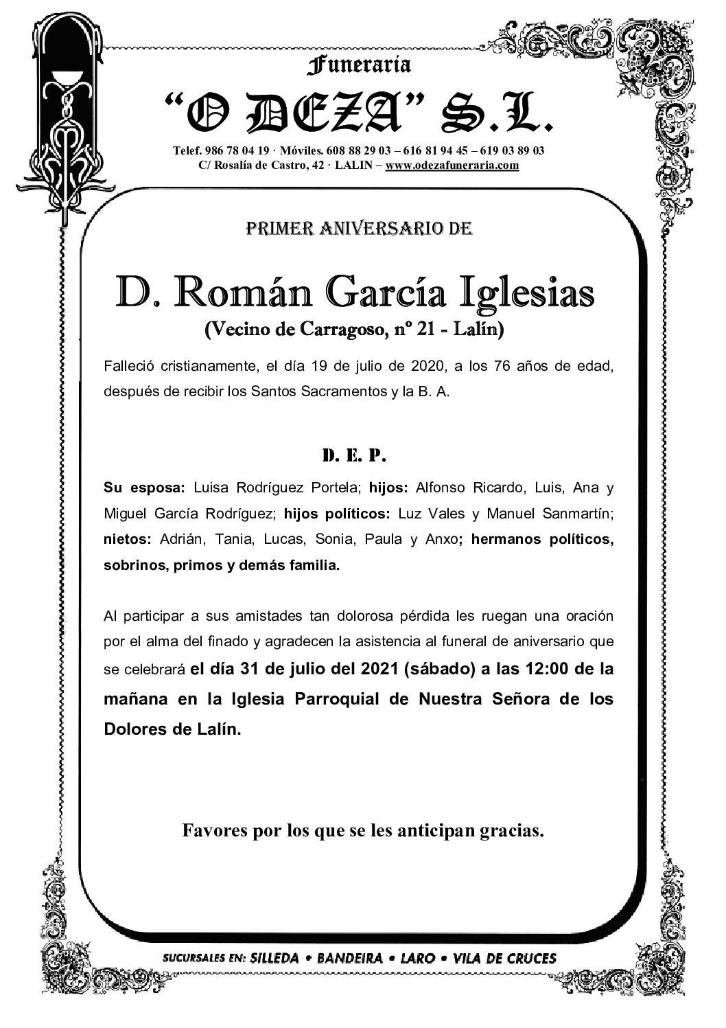 D. ROMÁN GARCÍA IGLESIAS