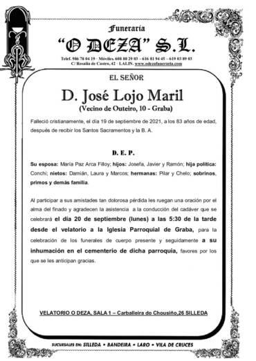 D. JOSÉ LOJO MARIL