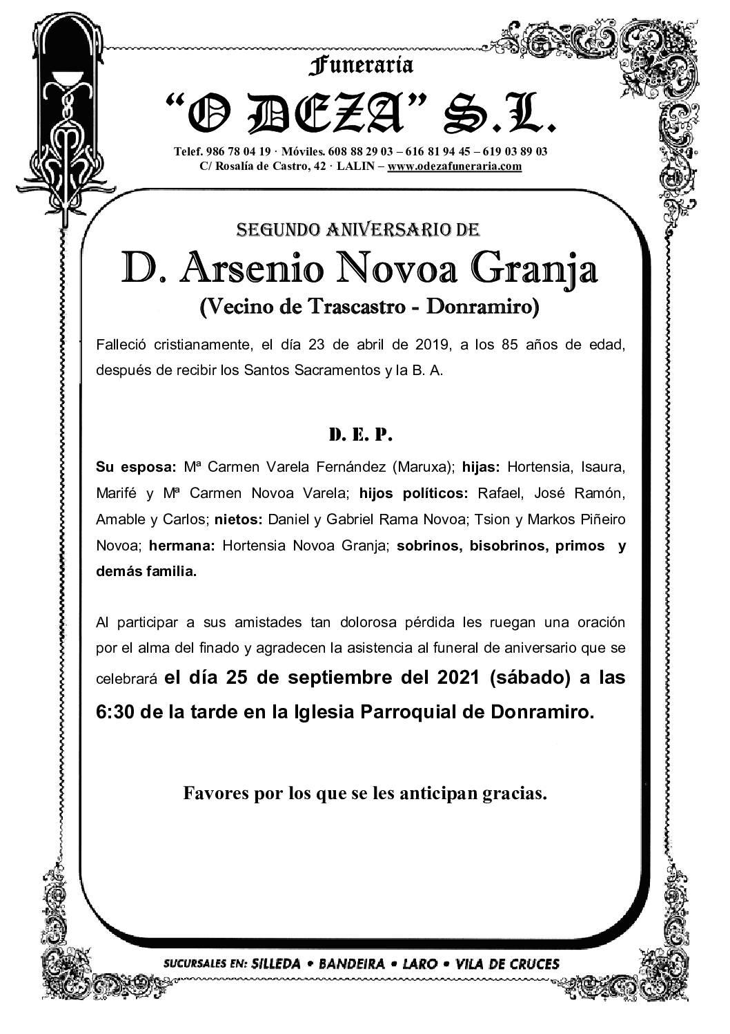 D. ARSENIO NOVOA GRANJA